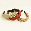 Korean fabric crossknotted headband NHWB336850