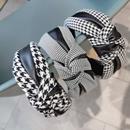 fashion black stitching chidori hair band  NHWB336849