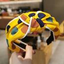 Korean contrast color polka dots headband NHWB336859