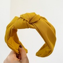 Korean solid color fabric headband  NHWB336864