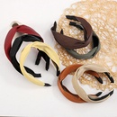wholesale Korean wideside solid color headband NHWB336871
