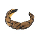 fashion widebrimmed fabric polkadot headband  NHWB336872