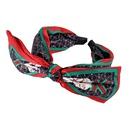 Korean red green plaid bow headband  NHWB336874