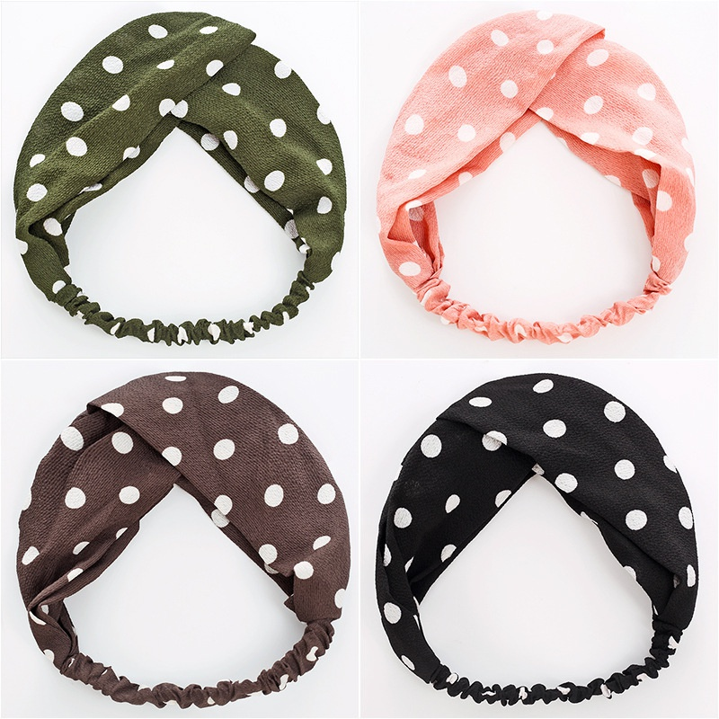 wholesale Korean polka dots hair band  NHWB336878