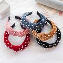 Korean velvet pearl headband   NHWB336879