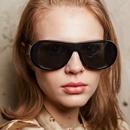 Fashion oval frame big hinge sunglasses wholesale NHFY336884