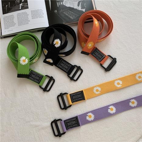fashion daisy canvas adjustable belt  NHWP336889's discount tags