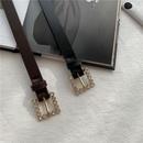 casual rhinestone buckle thin belt  NHWP336896