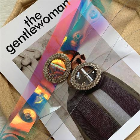 fashion round buckle diamond colorful belt  NHWP336905's discount tags