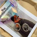 fashion round buckle diamond colorful belt  NHWP336905
