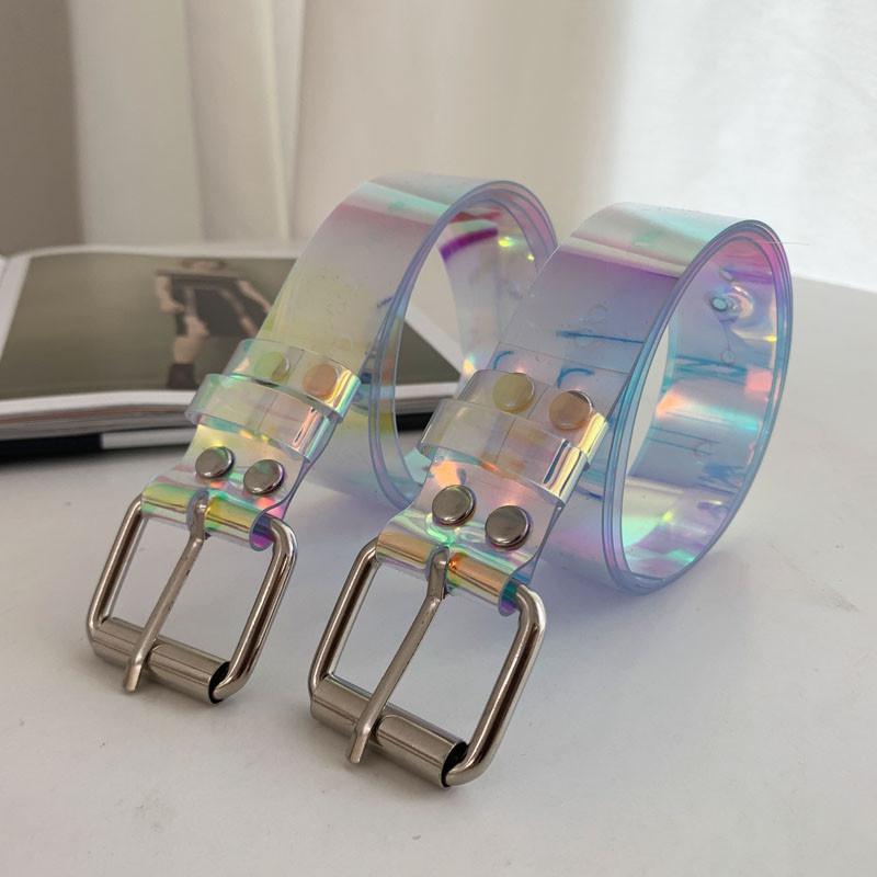 fashion transparent colorful PVC belt  NHWP336909