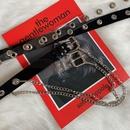 punk square buckle transparent belt   NHWP336910