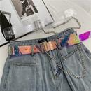 punk chain transparent belt NHWP336911