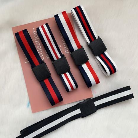 fashion striped non-porous canvas belt NHWP336916's discount tags
