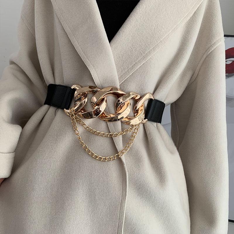 fashion metal buckle chain belt NHWP336920