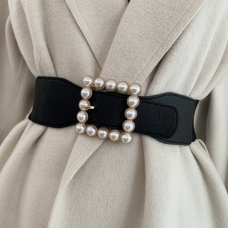 wholesale square pearl buckle belt  NHWP336922's discount tags