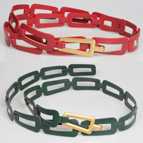fashion solid color hollow chain belt  NHJSR336931's discount tags