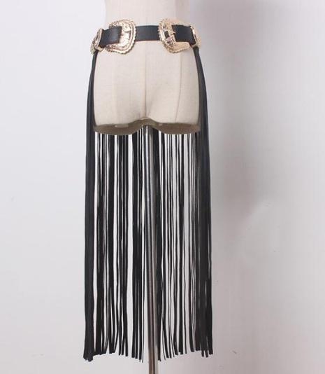 fashion long tassel gold double buckle belt NHJSR336930's discount tags