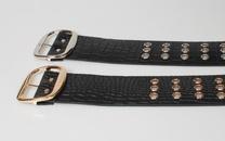fashion three rows of holes ultrawide belt  NHJSR336937