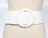 simple round buckle wide belt  NHJSR336932