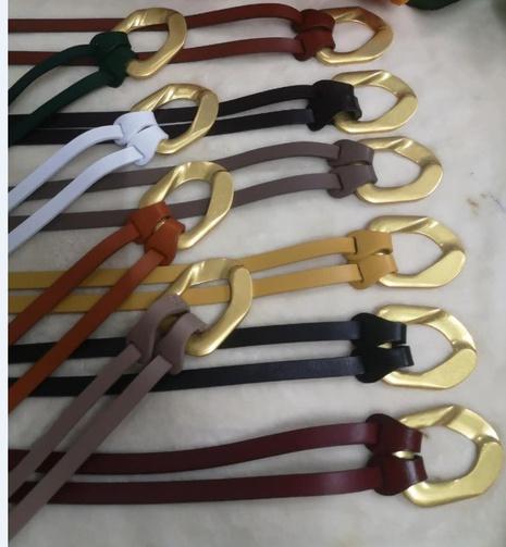 fashion irregular gold buckle belt NHJSR336941's discount tags