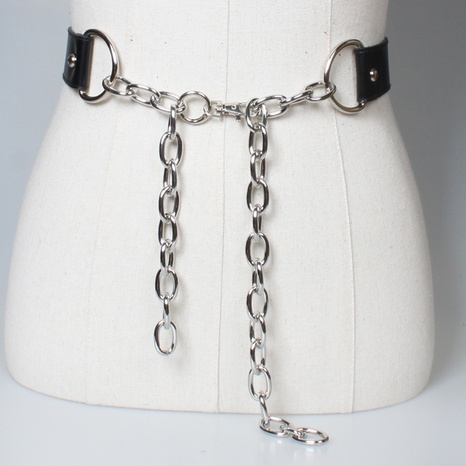 punk adjustable chain belt NHJSR336943's discount tags