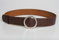 fashion rhinestone crocodile pattern wide belt   NHJSR336947