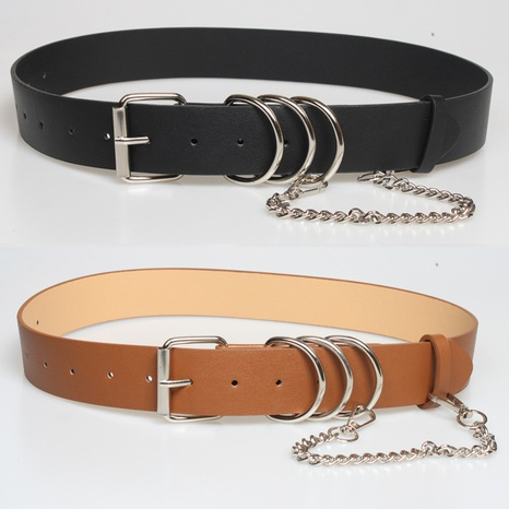 punk style chain ring decorative belt  NHJSR336948's discount tags