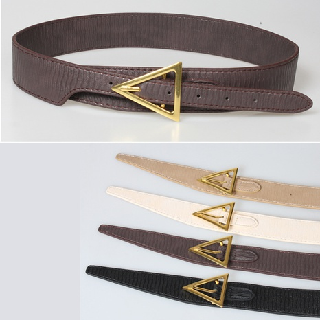 simple gold triangle buckle wide belt  NHJSR336950's discount tags