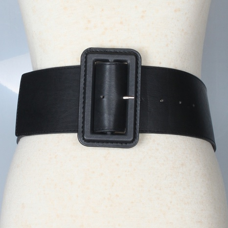 simple square buckle extra wide belt  NHJSR336952's discount tags