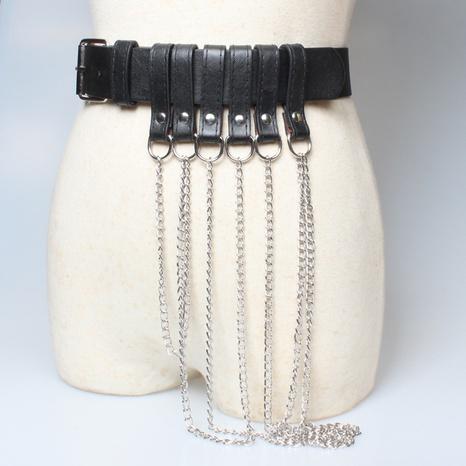 fashion chain tassel black belt NHJSR336953's discount tags