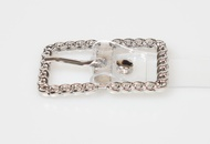 punk square buckle transparent belt  NHJSR336957
