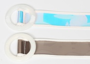 fashion laser transparent round buckle belt  NHJSR336958