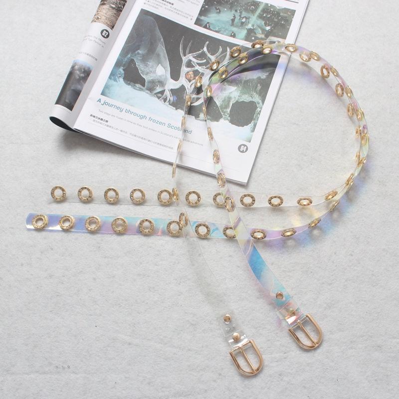 Fashion Rhinestone Transparent Wide Belt  NHJSR336959
