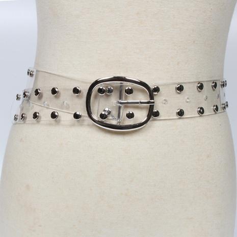 fashion rivet transparent belt NHJSR336962's discount tags