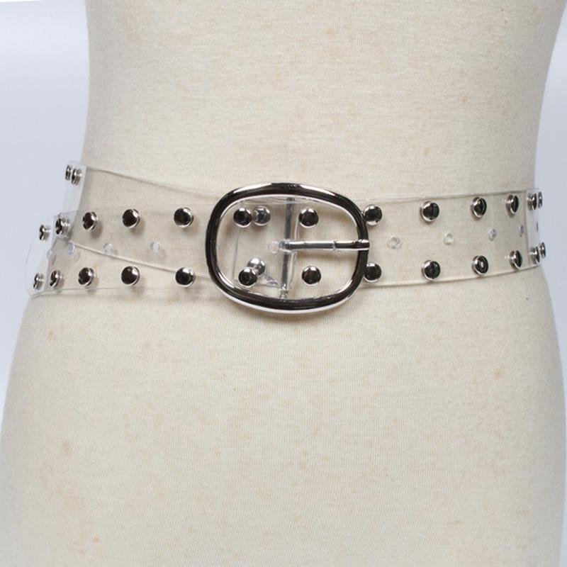 fashion rivet transparent belt NHJSR336962
