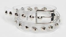 punk color transparent rivet belt   NHJSR336963