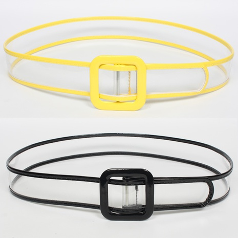 fashion transparent color matching belt NHJSR336965's discount tags
