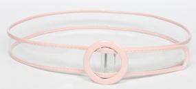 simple contrast color transparent belt  NHJSR336964