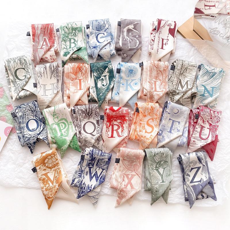 fashion letters graffiti handpainted printing scarf NHCJ336969