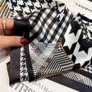 Korean splicing plaid silk scarf  NHCJ336979