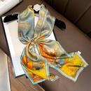 Silk ethnic style printed oil scarf NHCJ336984