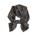 New black satin fanshaped silk scarf  NHCJ336985