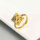 simple square star moon open ring  NHLN336992