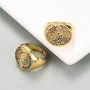 fashion inlaid color zircon woodpecker ring  NHLN336993