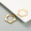 simple geometric gold ring  NHLN336995