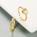 fashion heartshaped open ring  NHLN336996