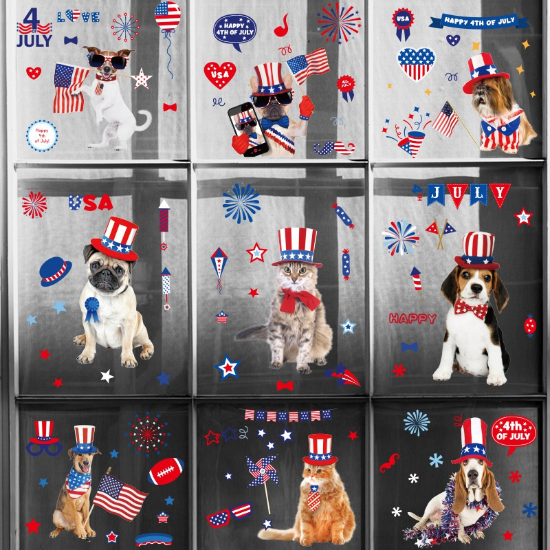 Fashion United States Independence Day doublesided wall stickers NHAF337001