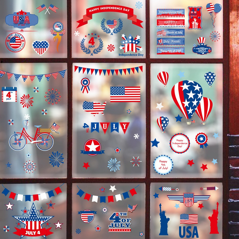 Fashion United States Independence Day wall stickers wholesale NHAF337002