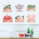 Fashion Painted Flower Envelope Wall Sticker Wholesale NHAF337003